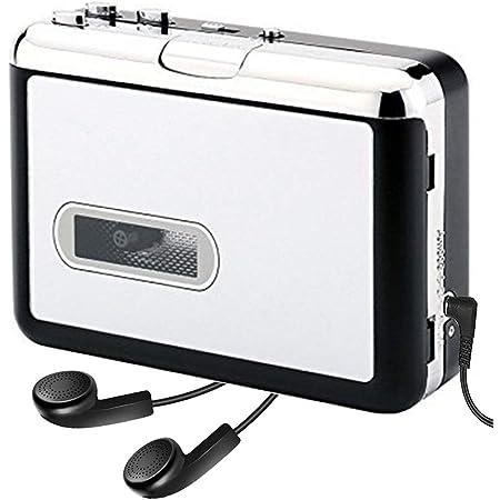 AiteFeir カセットテープ USB変換プレーヤー カセットテープデジタル化 MP3コンバーター カセットテープのプレーヤーとしても使えます。MP3の曲を自動分割!USBフラッシュメモリ保存オートリバース機能 PC不要