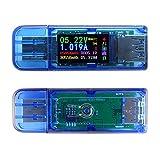 KKmoon USB電流電圧テスター USB メーター 計測 チェッカー 多機能 3.0 カラー LCD ディスプレイ バッテリーチャージ 測定