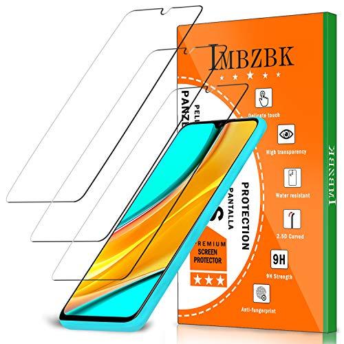 IMBZBK [3 Pack] Compatible con Protector Pantalla Xiaomi Redmi 9C/Redmi 9A/Redmi 9 Cristal Templado, [Sin Burbujas] [Cobertura máxima] [Claridad HD] Cristal Templado antiarañazos - Transparente