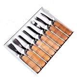 8 Piece Set Wood Carving Hand Chisel Tool Carving Tools Woodworking Professional Gouges New