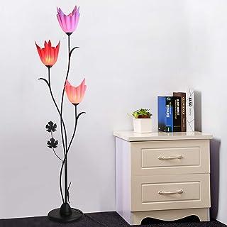 HKLY Lampadaire Décoration E27, Design Créatif en Forme de Fleur Lampadaire sur Pied Salon, Lampadaire Métal Noir Moderne ...