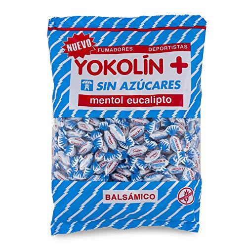 Cerdán Caramelos Yokolín sin azúcar duro dos Lazos sabor Mentol-Eucalipto 300 Unidades 1 kg