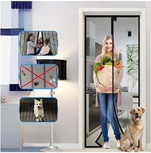 """Magnetic Screen Door with Heavy Duty Mesh Curtain, Tight Self Closing Magnetic Seal, Heavy Duty, Hands Free, Pet and Kid Friendly, Full Frame Hook & Loop, Fits All Size up to (83"""" x 39"""")"""