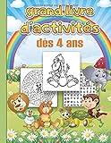 grand livre d'activités: dès 4 ans. Dinosaures, Coloriages, Labirynthes, Mots Mêlés, 100 jeux. Idée Cadeau. Fabriqué en France.