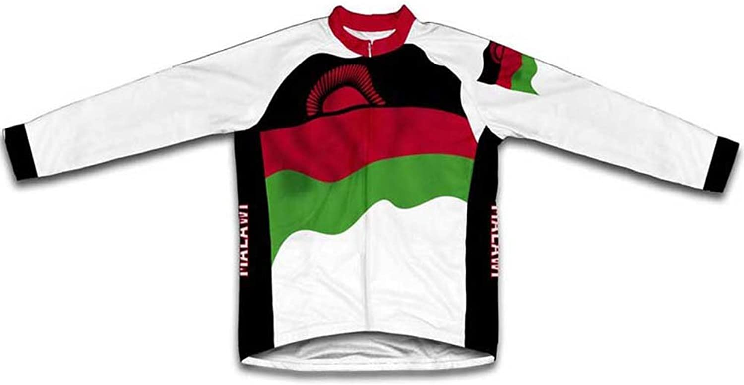 Malawi Flag Winter Thermal Cycling Jersey for Women