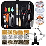 Paxcoo Jewelry Making Supplies Wire Wrapping Kit with Jewelry Beading Tools, Jewelry Wire, Helping Hands and Jewelry Findings for Jewelry Repair, Beading