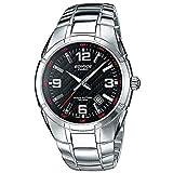 Casio EDIFICE Reloj en caja sólida, 10 BAR, Negro, para Hombre, con Correa de Acero inoxidable, EF-125D-1AVEG