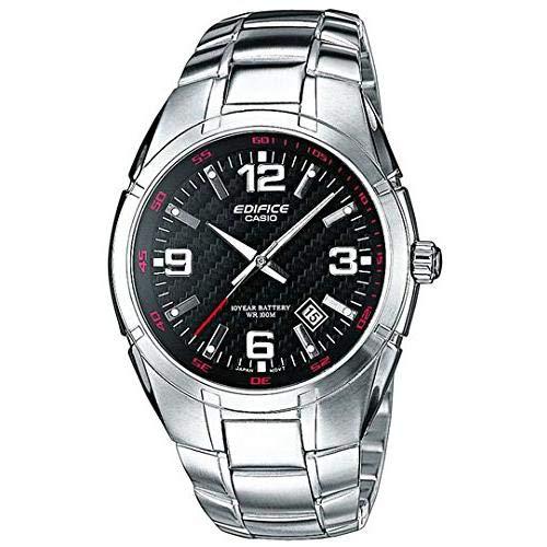 Casio Edifice Herren Massives Edelstahlgehäuse und Edelstahlarmband Uhrenarmband EF-125D-1AVEF