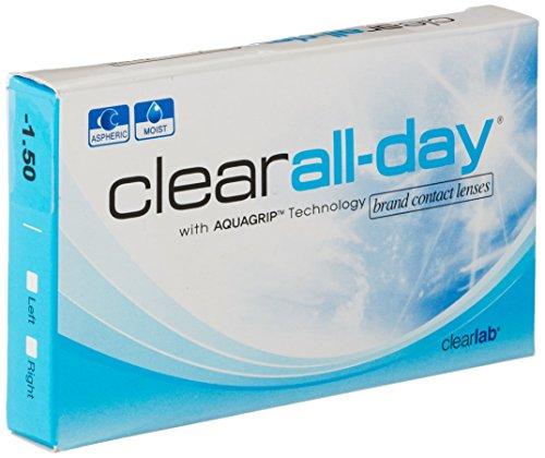 Clear All-Day Monatslinsen weich, 6 Stück / BC 8.60 mm / DIA 14.20 mm / -2 Dioptrien