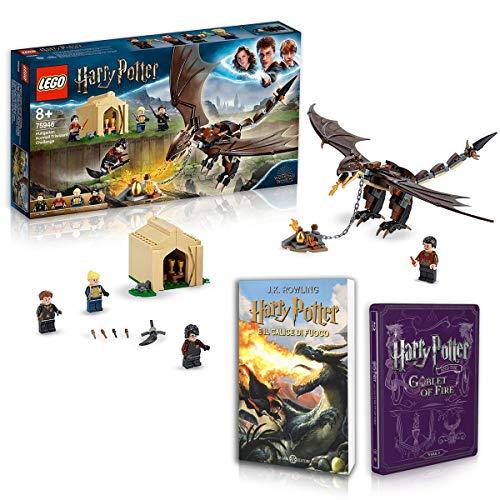 Harry Potter E Il Calice di Fuoco: Libro + Steelbook + LEGO La Sfida dell'Ungaro Spinato al Torneo Tremaghi Gioco
