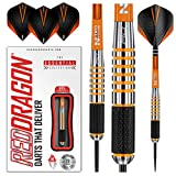 RED DRAGON Amberjack 9: 28g Tungsten Darts Set with Flights and Stems