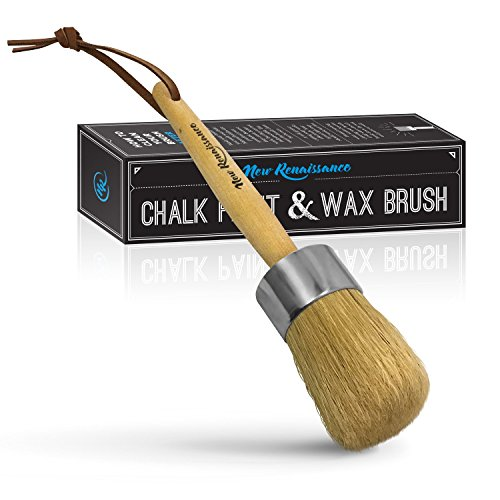 New Renaissance Professional Chalk Painting and Wax Brush, Large, Natural Bristles
