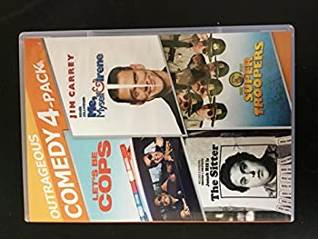 DVD Let's Be Cops/Me, Myself & Irene/Sitter/Super Troopers Book