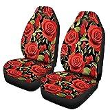 LBWNB Autoaccessoire PU Cuir imperméable Universel de Voiture Seat Mat Couvre Respirante Coussin Protecteur siège d'auto Couverture Fits Four Season 1 / 2X Accessoires de Voiture (Color : 2)