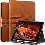 AUAUA Hülle für iPad 9. Generation (2021) / iPad 8. Generation (2020) / 7. Gen (2019) 10.2 Zoll mit Apple Stifthalter Auto Schlaf/Aufwach Funktion PU Leder Cover (Braun)