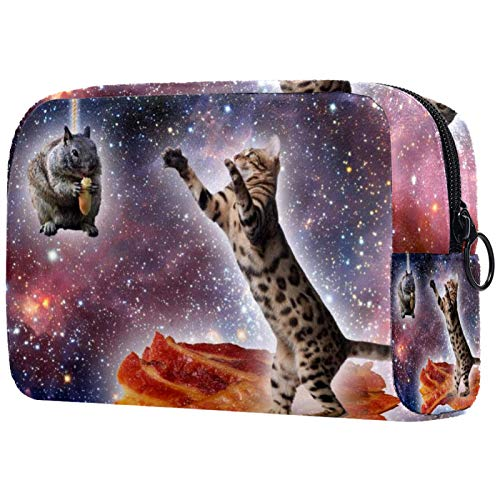 Bolsa de maquillaje bolsa de aseo de viaje, nailon resistente al agua,Unicorn Fantasy