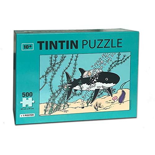 Moulinsart Puzzle Tiburón Submarino, Tamaño Único