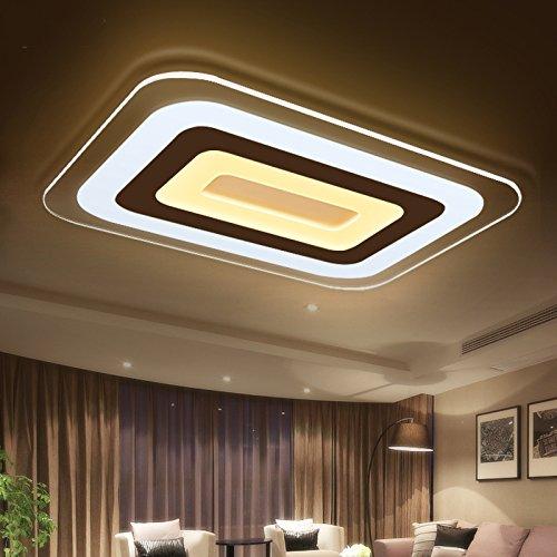 JHTWGJ Moderne einfache ultradünne Rechteck LED-Acryldeckenleuchten/Wand-Leuchter/ultradünnes modernes geführtes Licht für Wohnzimmer/Schlafzimmer / 3 färben Dimmen [23.6 * 15.7 Zoll]