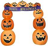 Gemmy 8.5' Airblown Archway Pumpkins Banner Halloween Inflatable