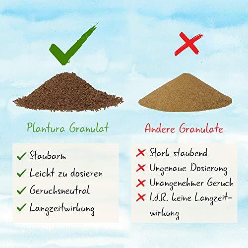 Plantura Bio Universaldünger mit 3 Monaten Langzeitwirkung, Pflanzendünger, für kraftvolle Pflanzen, 100% tierfrei & Bio, gut für den Boden, unbedenklich für Hund, Haus- & Gartentiere, Naturdünger - 4