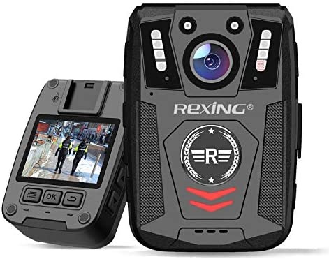 Rexing P1 Body Worn Camera 2 Display 1080p Full HD 64G Memory Record Video Audio Pictures Infrared product image