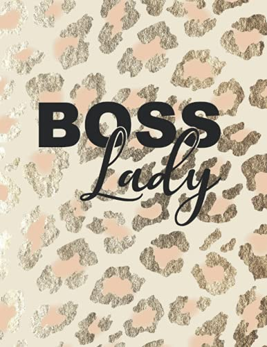 Boss Lady: Leopard Print Notebook (Animal Skin Pattern). Blank College...