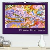 Fliessende Farbenmomente (Premium, hochwertiger DIN A2 Wandkalender 2022, Kunstdruck in Hochglanz): Durch abstrakte, fliessende Farben wird das ganze Jahr bunt und froehlich. (Monatskalender, 14 Seiten )