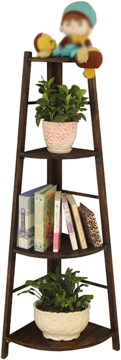 NYDZDM Plant Flower Stand Creative Multi-Layer Balcony Corner Ladder Flower Stand Flower Pot Shelf Indoor Corner Corner Universal (Size   4 tiers-40x136cm)