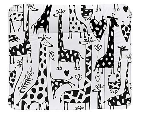 Rotho Babydesign Matelas à Langer Happy Family, Dès 0 Mois, TOP, 85 x 72, Noir/Blanc, 20062 0001 CW
