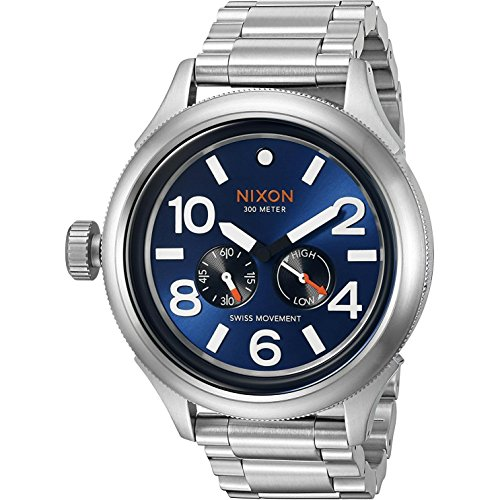 Nixon Men's October Tide A4741258 Silver Stainless-Steel Swiss Quartz Dress Watch