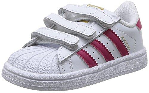 adidas Superstar Foundation CF I - Zapatillas infantil, Blanco / Fucsia, 19