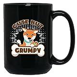 Shiba Inu Ceramic Mug - Cute But Grumpy Shiba Inu Teacup, Black Coffee Mug 15oz