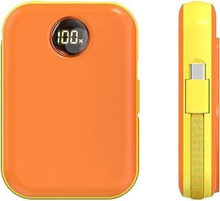 Magnetisk trådlös powerbank bärbar powerbank mini powerbank för obegränsad laddning av mobiltelefoner,Orange