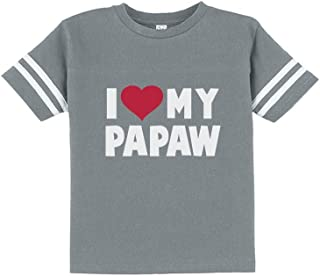 I Love My Papaw for Grandpa Cute Toddler Jersey T-Shirt