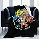 Dogecoin to The Moon Crypto Dogecoin Doge Blanket Fleece Ultra-Soft Micro Throw Soft Blankets for Couch Sofa Bed 60'X50'