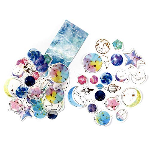 DIY Notebook Laptop Stickers Pack, Vsco Girl Kids Washi Sticker for Laptop Notebook Scrapbook Diary Album Luggage Water Bottle Stationery Scrapbooking Stamping Stickers, Pack of 60pc