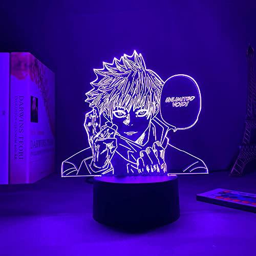 Luces De Anime 3d Led,Luz De AnimacióN De Luz 3d Jiu-Jitsu Reborn Satoru Gojo Luz De Noche,DecoracióN De Dormitorio Regalo De CumpleañOs Luz De Noche Led