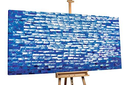 'Panoptikum' 200x100cm | Deko Abstrakt Blau Wolken Himmel | Modernes Kunst Ölbild