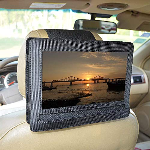 "Car Headrest Mount Holder for DBPOWER 10.5"" Portable DVD Player with Swivel and Flip Screen and Fits Other 10-10.5"" Swivel Screen Portable DVD Player - Black"