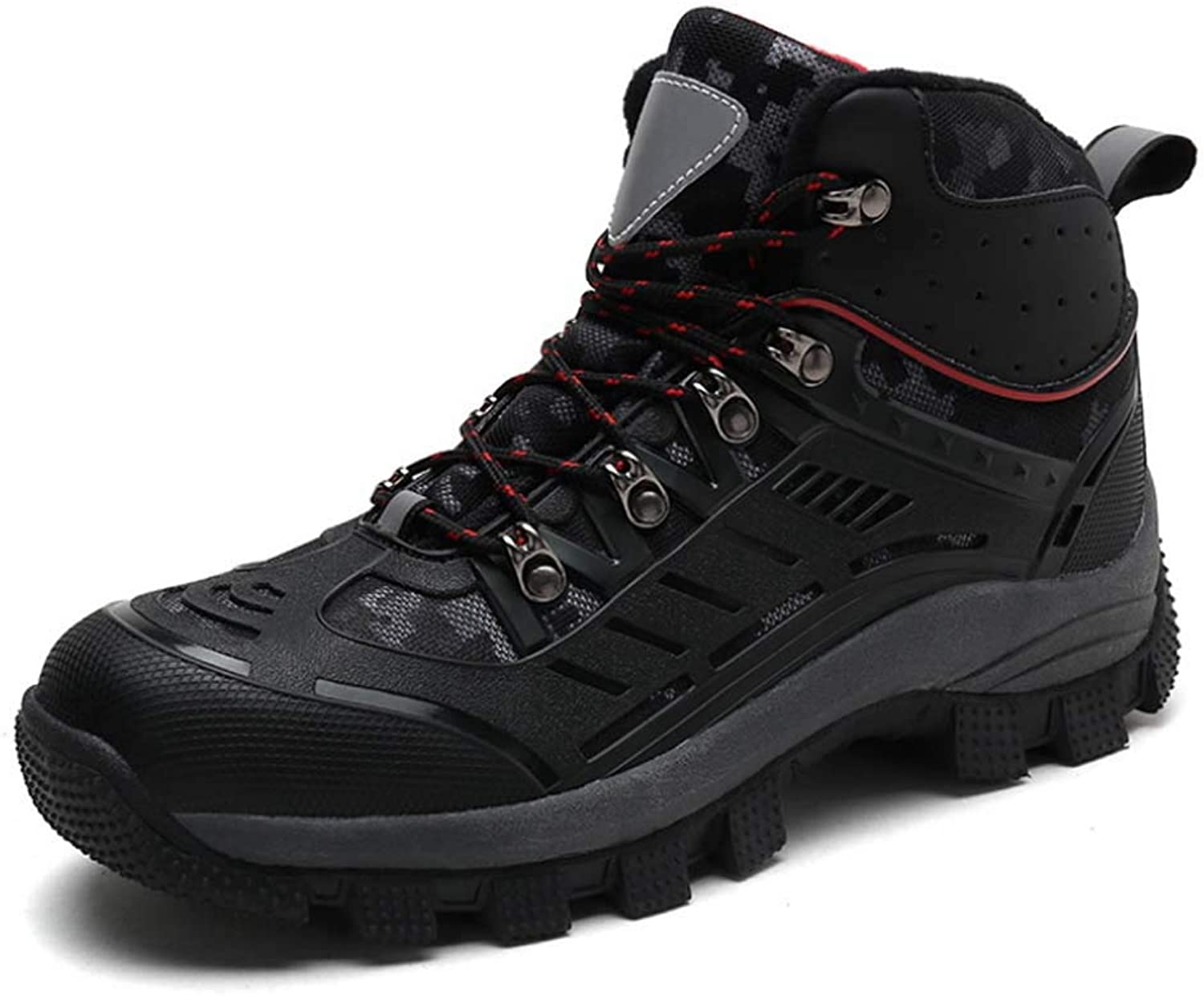 Forest Boots Cut Predection Boots Men Warm Lace-Up Sneakers Waterproof Trekking Walking shoes High Top Casual Leather Winter Walking shoes