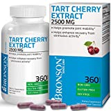 Bronson Tart Cherry Extract 2500 mg Vegetarian Capsules with Antioxidants and Flavonoids Non-GMO, 360 Count