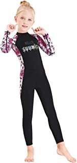 Full Body Kids Swimsuit One Piece Rash Guard Long Sleeve Wetsuit Skin for Girls Boys