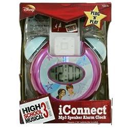 Disney High School Musical iConnect MP3 iPod Zune Speaker Alarm Clock Plug N Play