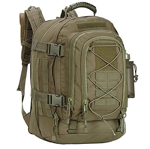 HRRF Mochilas para Hombres Mochila Militar de Gran Capacidad para Senderismo, Mochila expandible de 36 l a 55 l, Impermeable para Viajes al Aire Libre, Bolsa para Senderismo de montaña