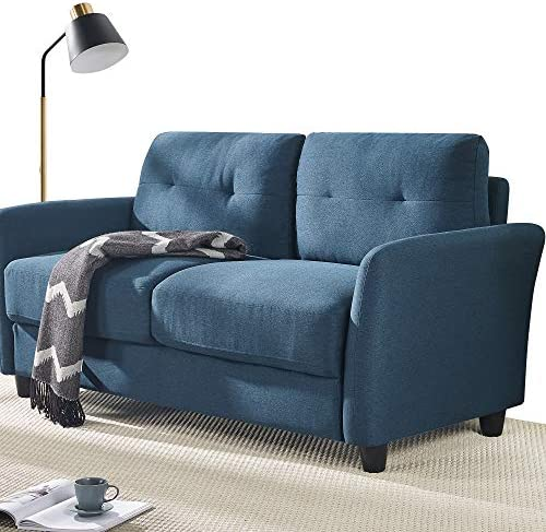 Best Zinus Ricardo Contemporary Upholstered 62.2 Inch Sofa Couch / Loveseat, Lyon Blue