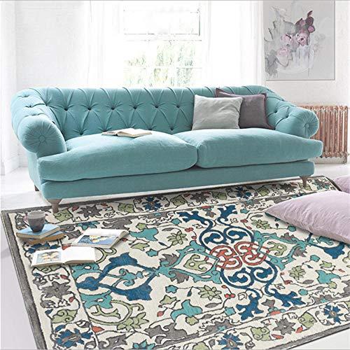 ANBAI Fashion Europese etnische groene Perzische bedrukte tapijt woonkamer slaapkamer tapijt tapijt kinderkamer anti-slip mat