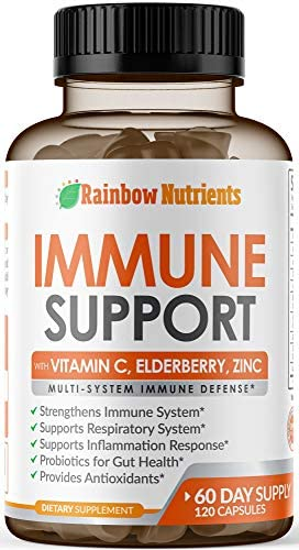 10 in 1 Immune Support Supplement 60 Day Supply with Vitamin C Zinc Elderberry Echinacea Turmeric product image