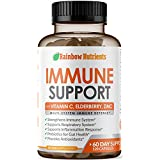 10 in 1 Immune Support Supplement (60 Day Supply)with Vitamin C, Zinc, Elderberry, Echinacea, Turmeric, Probiotics- Dr.Approved Immunity Booster for Multi-System Immune Defense, Respiratory Supplement