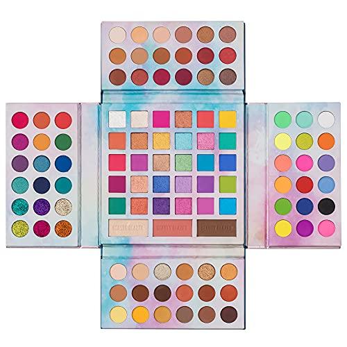 105 colores Ultra Pigmented Shimmer Paleta de sombras de ojos Combinación con sombras de ojos Contour Blush Highlighter powder Matte Glitter Todo en uno Maquillaje