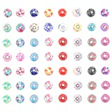 Rosenice - Cuentas redondas de 10 mm, de arcilla de polímero de color, en paquete de 50 unidades (colores mixtos)